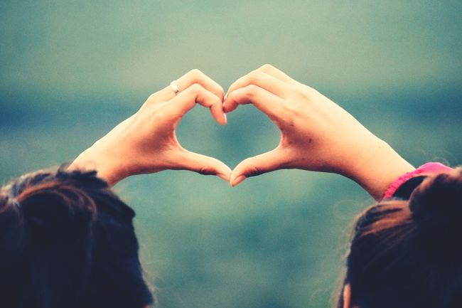Sistersforever Love Heart Shape Two Is Better Than One