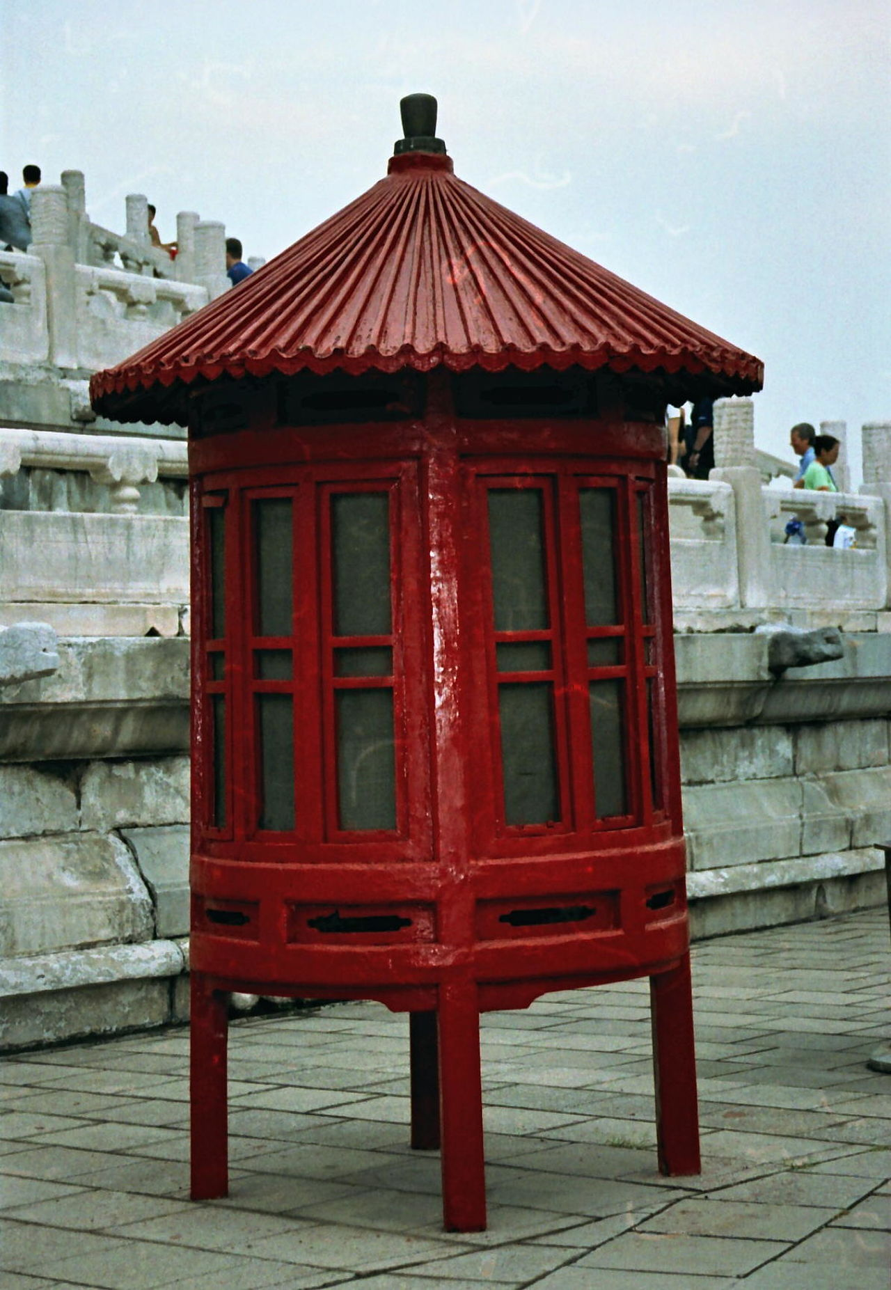 Chinese Lamp Beijing Blue Sky White Clouds Built Structure China Chinese Culture Chinese Lamp Composition Exterior Façade Lantern No People Outdoor Photography Red Temple Of Heaven Park Tourist Attraction  Tourist Destination Traditional Unusual Wood - Material Wooden