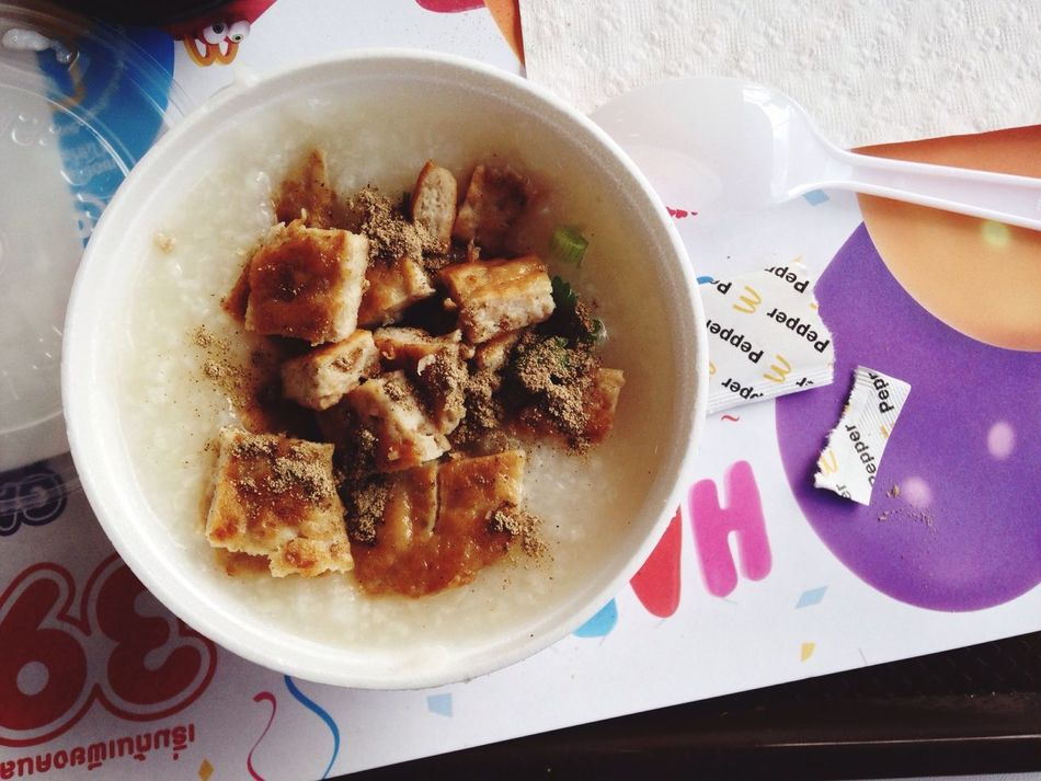 Breakfast Mcdonal Breakfast Set Boil Rice Slow Morning Happy Meal Taling Chan Bangkok Thailand