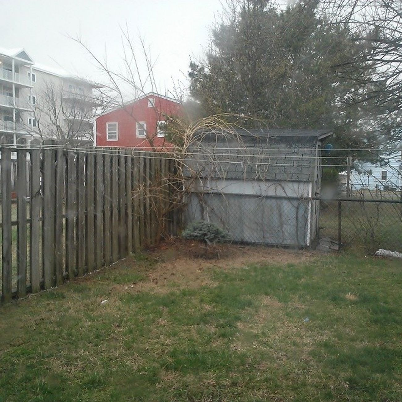 Need a better camera, but them there snow flurries and the winds are blowing good... Ocmd