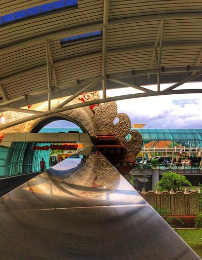 Airport Traditional Modern Bali Reflections Day Built Structure No People Architecture Multi Colored Indoors