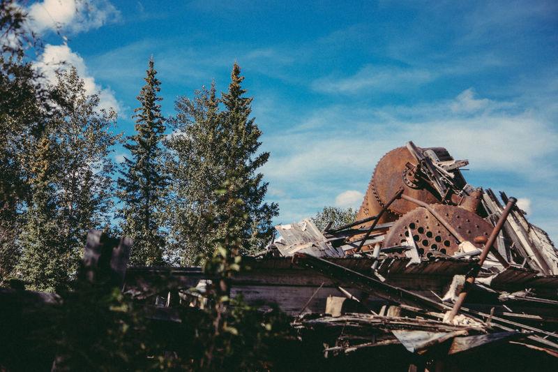 Canada Dawson Dawson City  Shipwreck Yukon