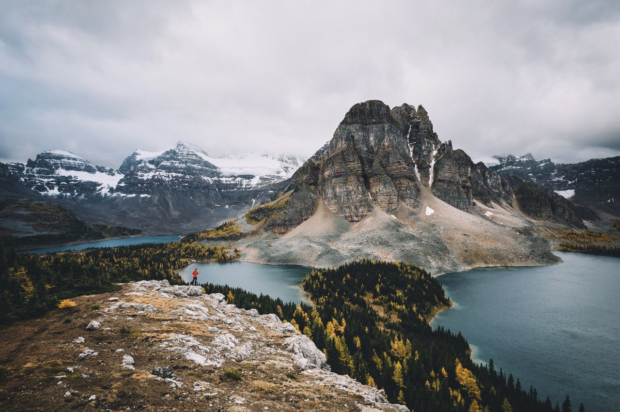 Rough side of Mt. Assiniboine Canada Travel Vscofilm Mountain Snow Mountain Range Nature Beauty In Nature Water Sky Lake Scenics Outdoors Cloud - Sky Non-urban Scene Tranquility Cold Temperature Winter Day Tranquil Scene Adventure No People