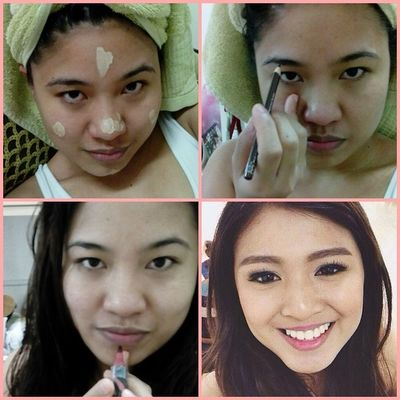 Makikiuso nalang din, might as well yung usong artista na rin! Makeuptransformation NadineLustre Olay Olaywithbbcream maxfactor lipfinity love blessed Pixlr