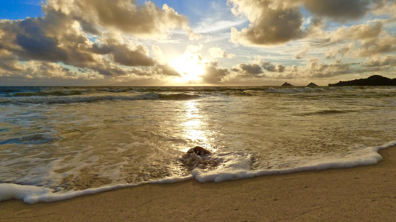 As the sun rises the Ocean plays! Kailua Bay Hawaii Pacific Ocean Kalama Sunrise Aloha! Kalawao Surf Kalama Beach Taking Photos