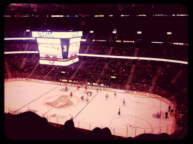 Watching Hockey Ottawa Senators Canadian