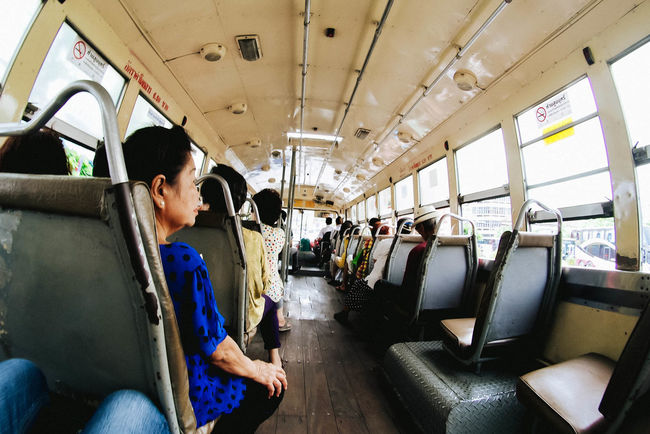 Around the city Adult Day Mode Of Transport Passenger People Sitting Transportation Travel
