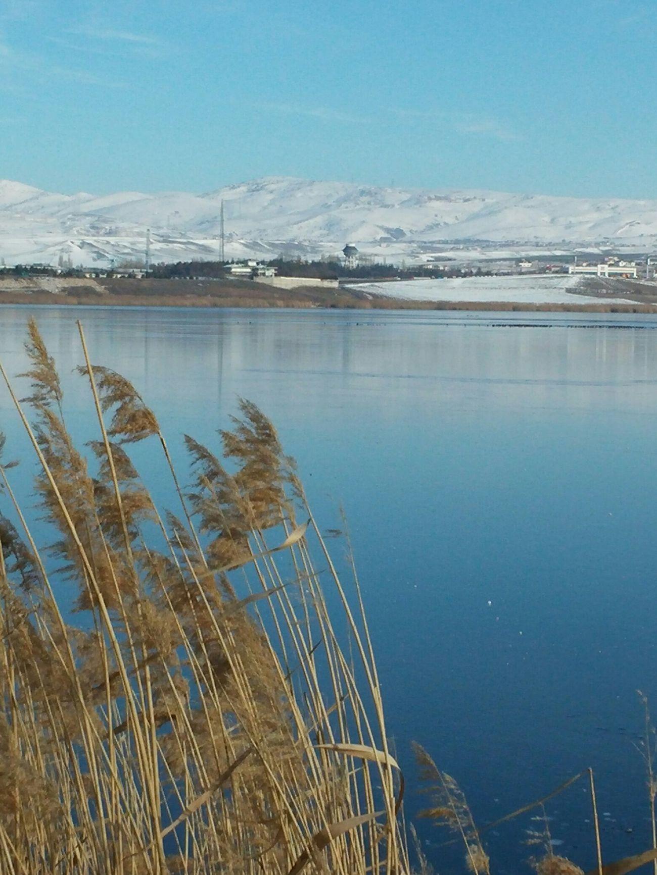 Frizen Lake Winter Snow Mogan Lake ankara,turkey