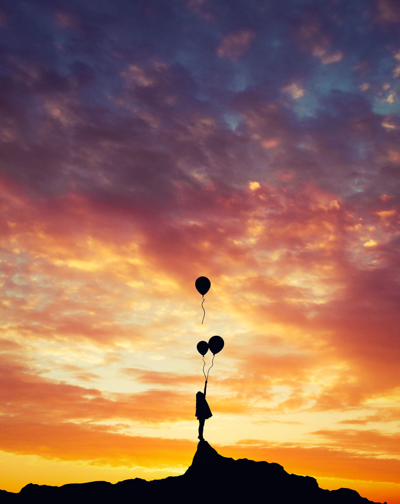 Balloons Birthday Child Cute Happy Happy Birthday! Kid Mountain Nature Silhouette Silhouette_collection Silhouettes Success Successful Sunrise Sunrise_sunsets_aroundworld Sunset Sunset_collection Sunshine
