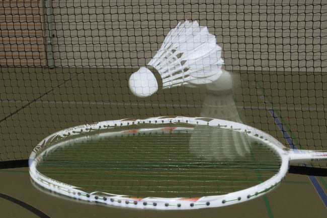 Badminton Ball Focus On Foreground Motion Motion Capture Selfmade Sport Time