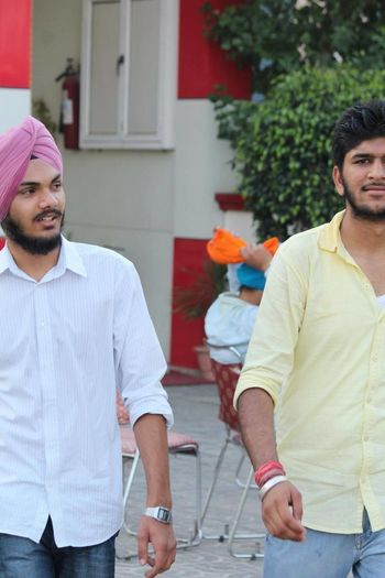 Bestoftheday Young Men Togetherness Casual Clothing Young Adult Stubble Besties Bestfriend Criminal Partnersincrime Partners Epic ArtWork Artoftheday Person Culture And Tradition Sikh Sardar Sardarji