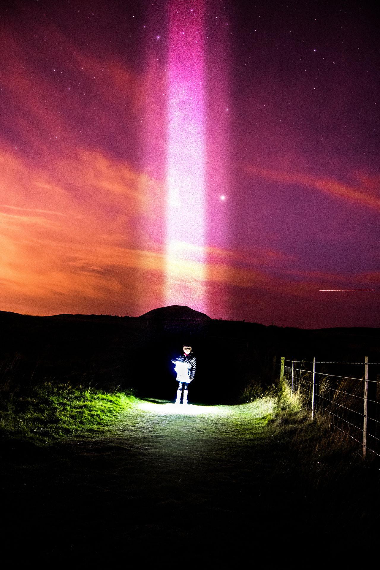 Science Fiction Composite Scotland 💕 Falkland Alien Invasion Fife  Beams Of Light The Week On Eyem