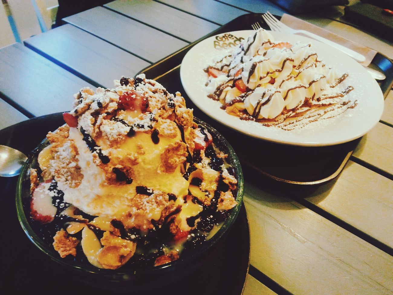 Sugar and spice..and everything nice :) you NEED it every once in a while.. Sweets 팥빙수 Enjoying Life Food Porn