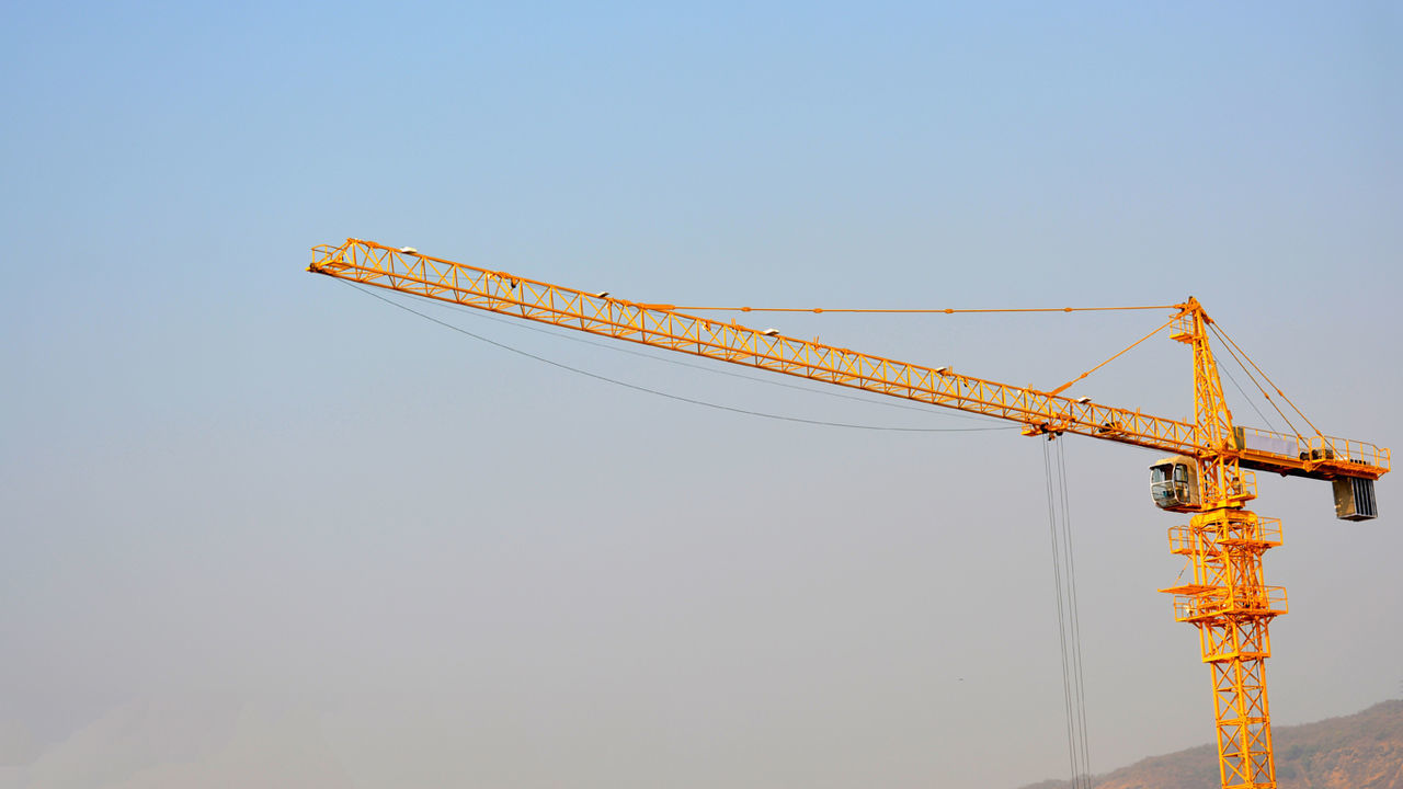 Beautiful stock photos of work, Cable, Clear Sky, Construction Industry, Construction Machinery