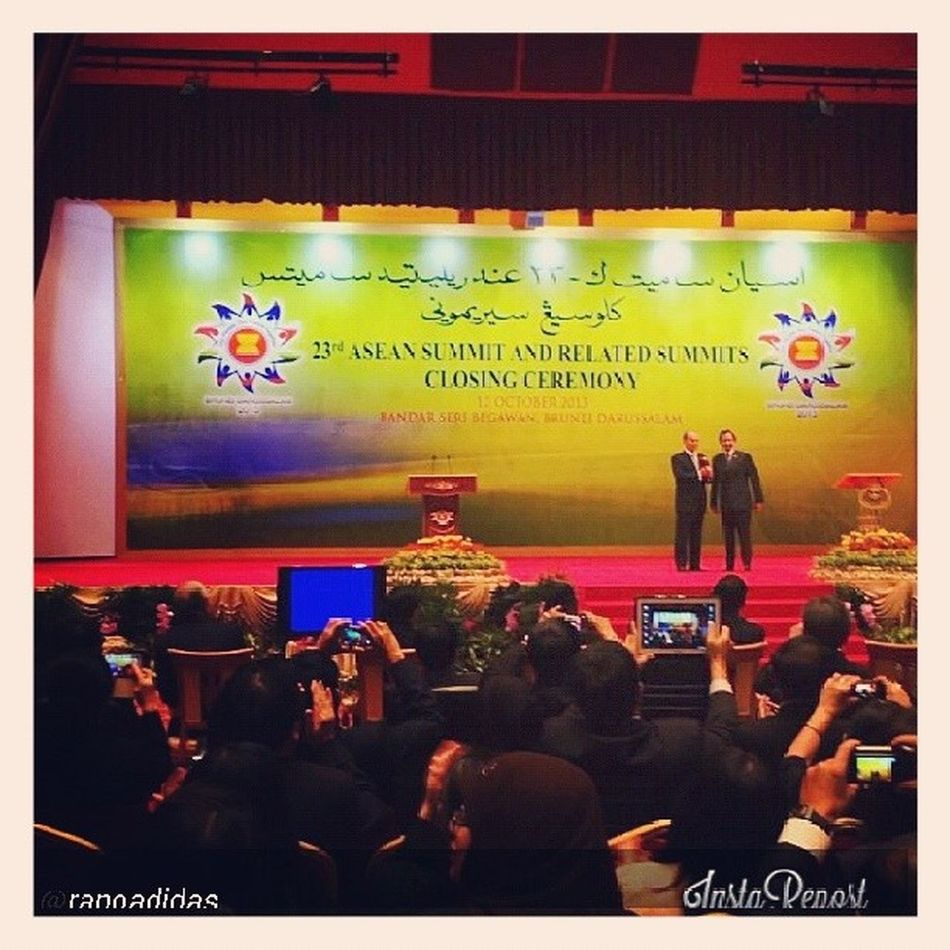 Well done to Hismajesty and the entire Aseansummit2013 team! Brunei InstaBruDroid Andrography Repost @ranoadidas