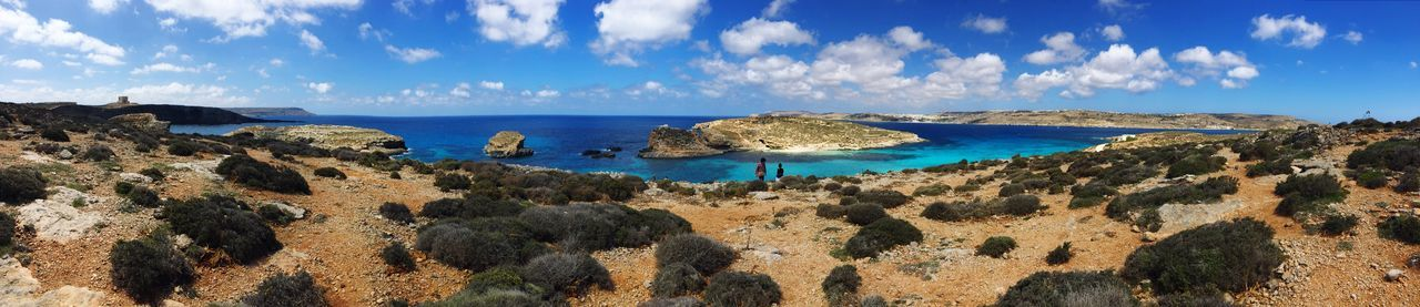 Hiking on comino island. Comino tower to the left. Blue lagoon to the right... Comino Cominoisland Cominotower Bluelagoon Hiking Trail