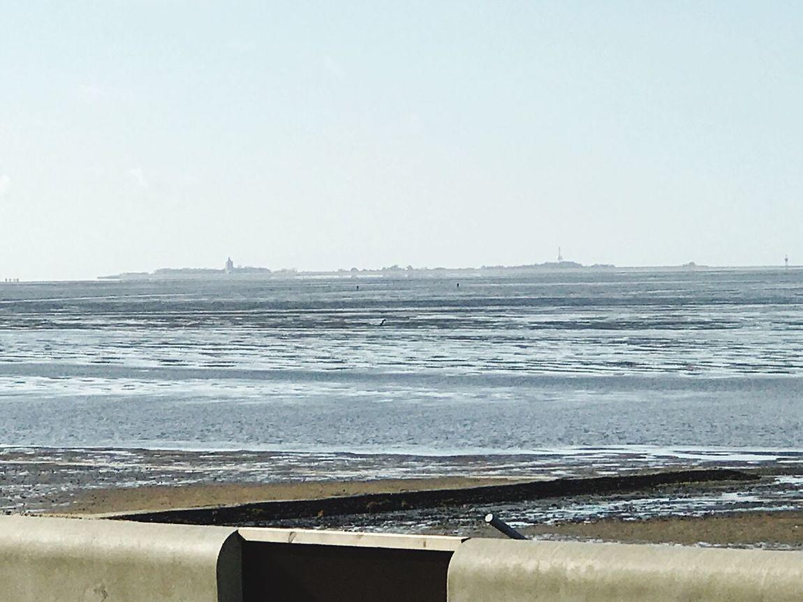 Neuwerk Sea Beach Water Horizon Over Water Sand Clear Sky Day Island Tower Ebbe - Flut First Eyeem Photo