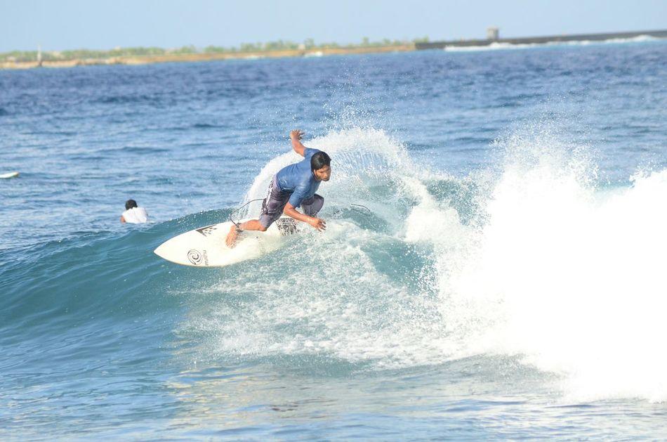 Surfing Surfin' Travel Photography Maldives Beach