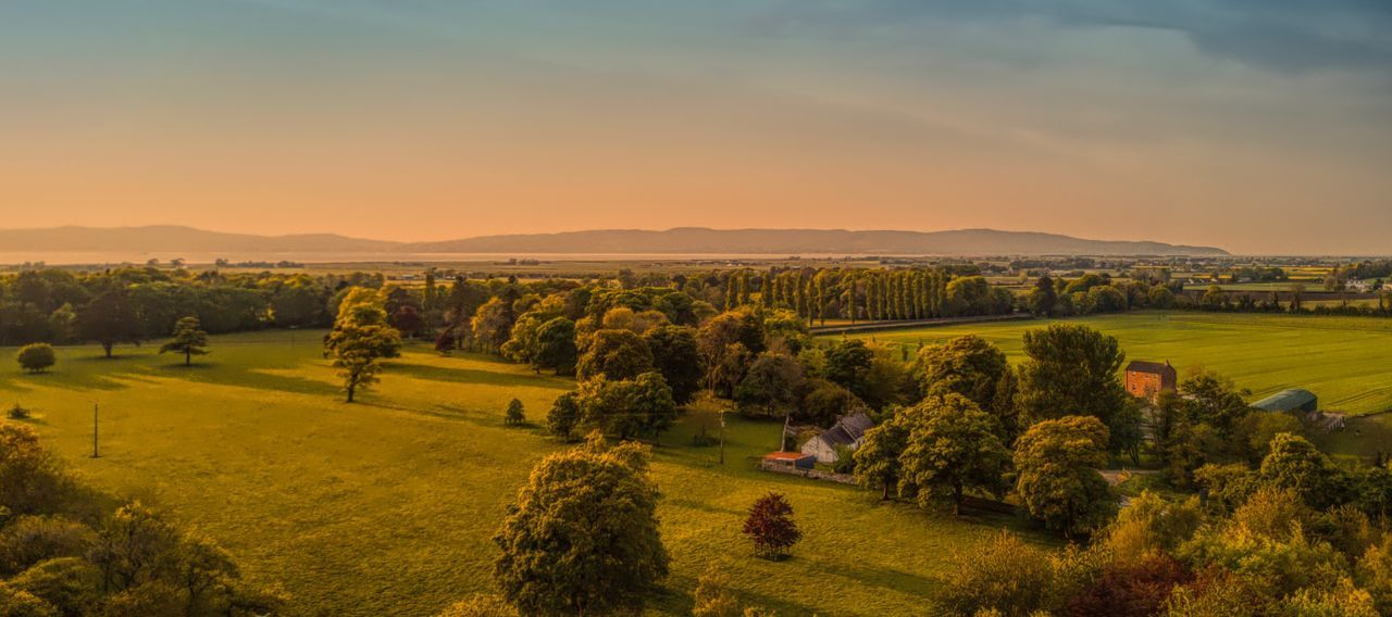 Magilligan County Derry. Aerial view. Agriculture Beauty In Nature Field Landscape Tranquil Scene Scenics Rural Scene Sky Sunset Outdoors Grass Ireland Aerial View Landscape_Collection Dronephotography EyeEm Best Shots