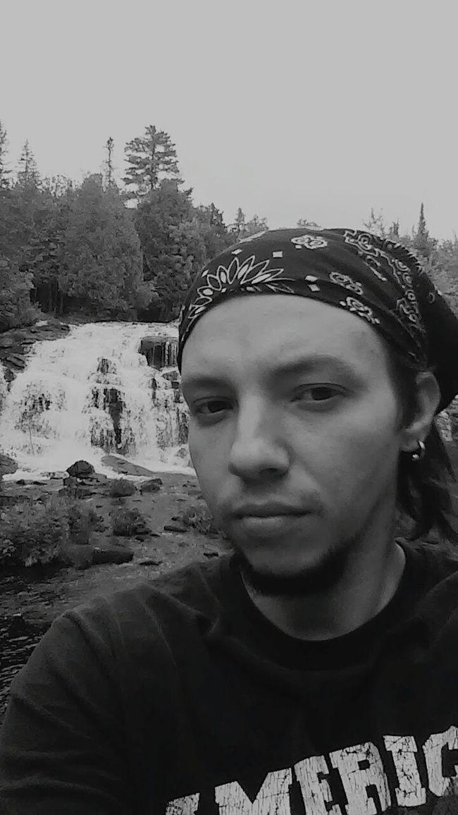 Selfie Waterfall Vacation