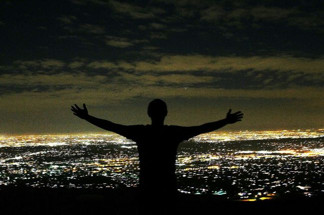 On Top of the World... Night Lights City Lights Top Of The World Stress Relief Meditation