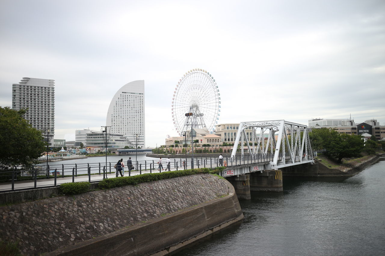 Architecture Bridge - Man Made Structure Building Exterior City Cityscape Day Ferris Wheel No People Outdoors Sky Urban Skyline
