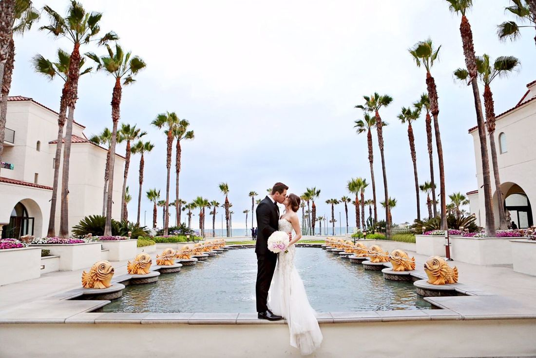 What a perfect setting for a kiss after being announced husband and wife. Weddingphotographer Weddingphotography Mccallandnikkiryanphotography First Eyeem Photo Wedding Day Ocphotographer Laphotography laphotographer Hyatt Regency Huntingtonbeach Love