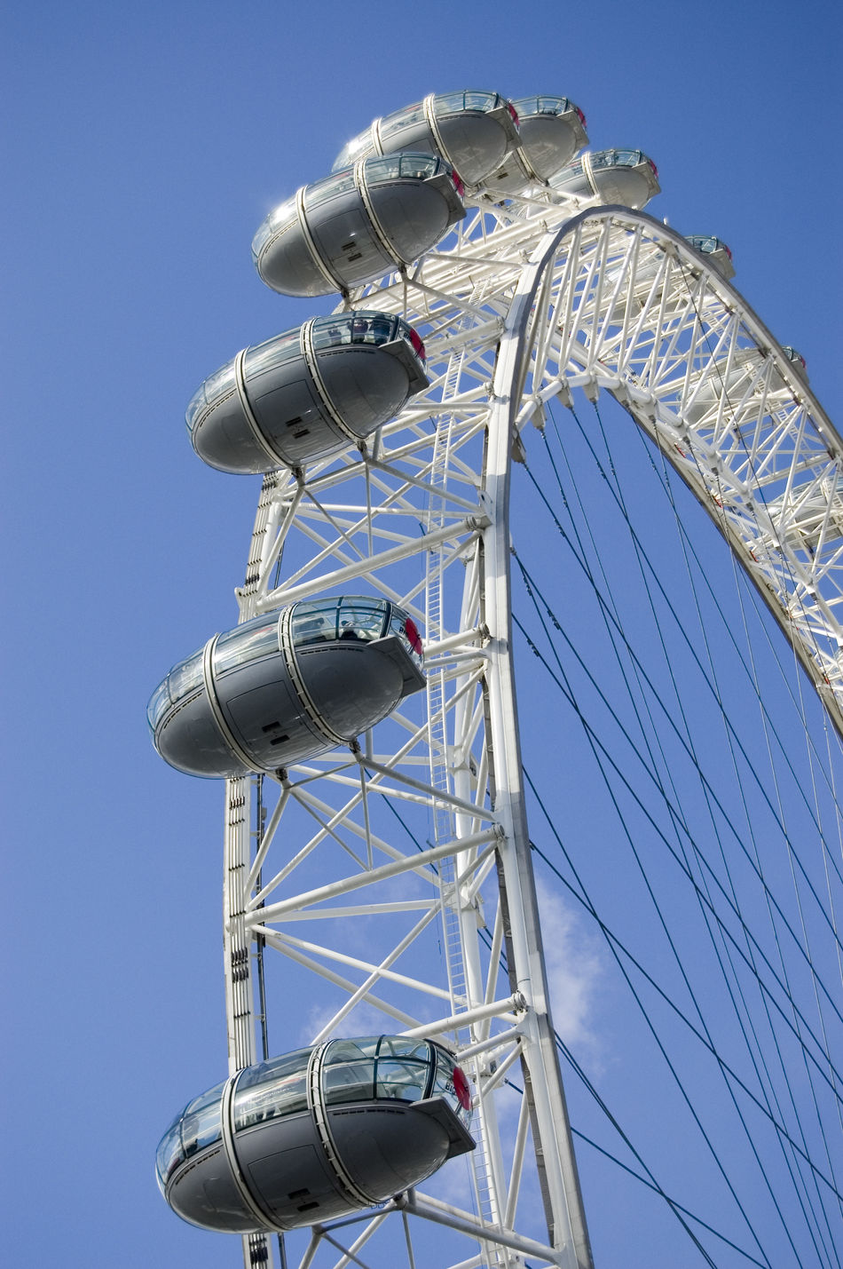 The London Eye on a sunny winter's day Blue Built Structure Clear Sky Day Enjoyment Ferris Wheel Fun L London Eye Low Angle View No People Outdoors Sky Sunlight Sunny London Tourism Travel Travel Destinations