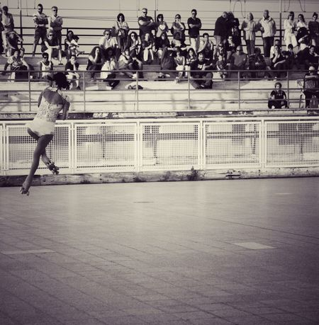 Monochrome Photography Arts Culture And Entertainment Outdoors Adults Only Jumping Skating Rollerskate