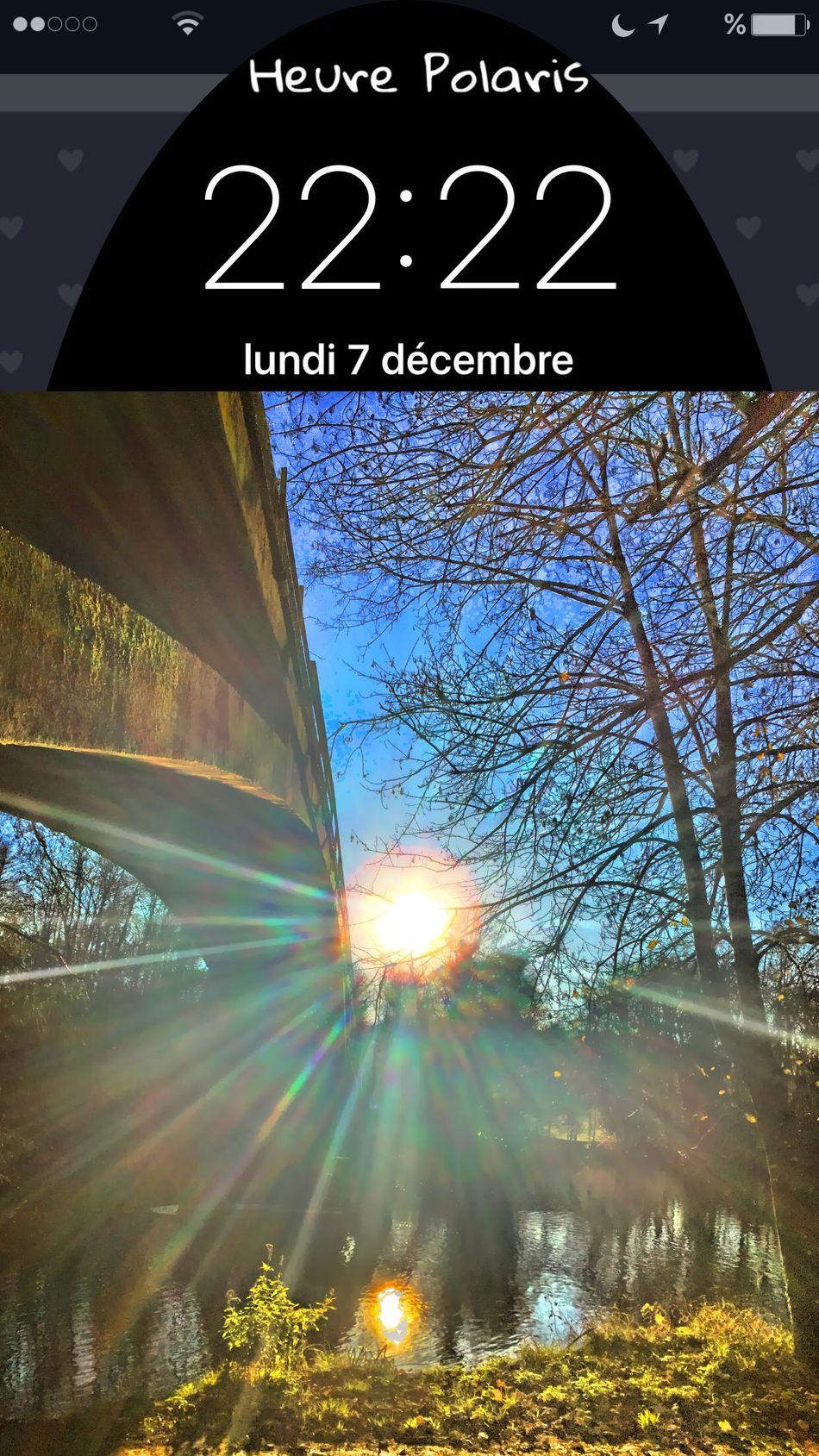 22H22 HEURE POLARIS Soleil Sun Time Clock Hour Heure Au Bord De L'eau Charente Nature En Balade Balade Pont Sky Ciel Skyfie CIELFIE Sur Les Chemins Sur Le Chemin