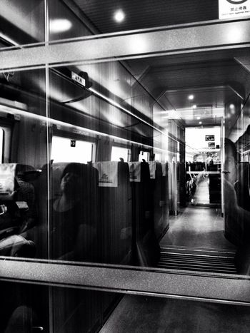 Playing with reflections on the train from Dalian to Changchun. Reflection Train Camera+ Blackandwhite Monochrome