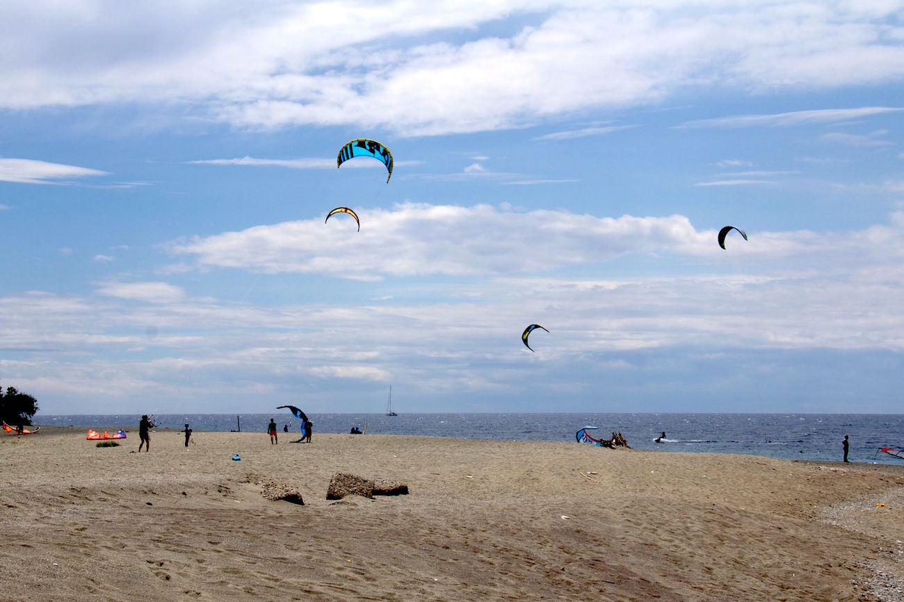 Kitesurfing Kites Sea Enjoying Life Reggio Di Calabria ReggioCalabria EyeEm Best Shots Stretto Di Messina Sport
