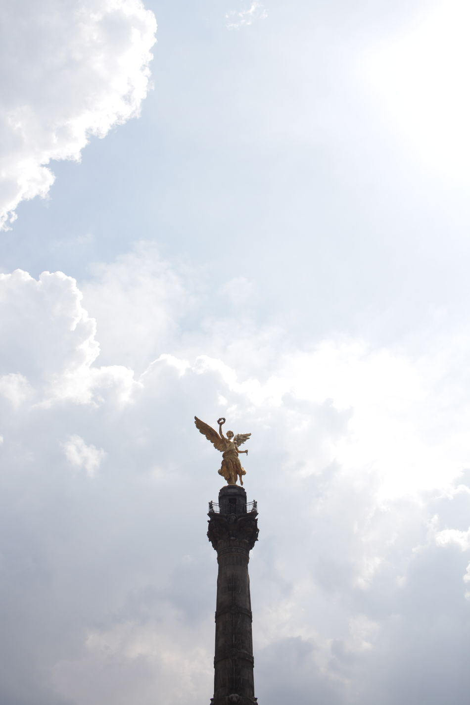 the angel de independecia in mexico City Architectural Column Art Art And Craft Capital Cities  Cloud Cloud - Sky Cloudy Creativity Culture Day Famous Place Human Representation Indepencia Independence Low Angle View Monument No People Outdoors Sculpture Sky Statue Statue Of Liberty Tourism Travel Destinations