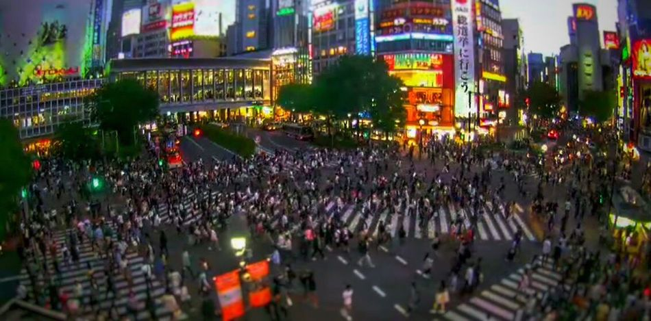 Sibuya Cityscapes Night Lights Japan