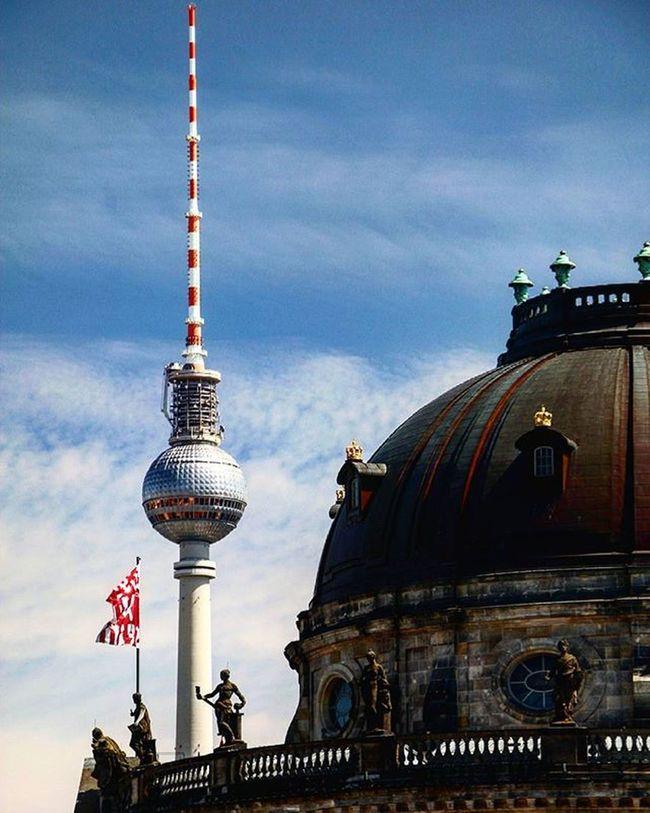 Germany Deutschland Berlin City Buildings Fernsehturm Fernsehturmberlin Bodemuseum Bodemuseumberlin Bluesky Clouds Followme
