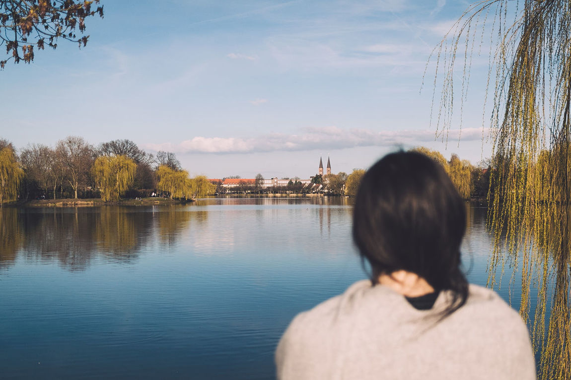 At the lake Stendal Stadtsee Germany Water Sky One Person Reflection Lake Outdoors Nature Wanderlust Spring City POTD Picoftheday Photooftheday The Great Outdoors - 2017 EyeEm Awards Live For The Story Place Of Heart