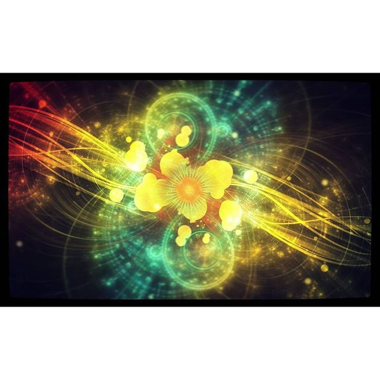 illuminated, abstract, no people, yellow, night, flower, close-up, astronomy