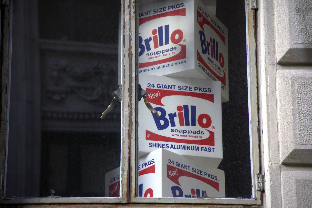 """""""Andy Warhol's Brillo Boxes"""", 2013 Andy Warhol Brillo Boxes Day Indoors  Mofern Art No People Pop Art Text"""