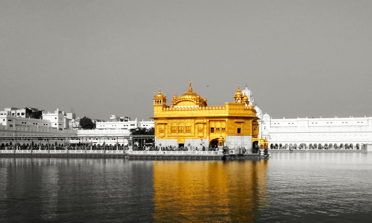 Amritsar Architecture Building Exterior Built Structure City Gold Colored Golden Temple History Illuminated Night No People Outdoors Reflection Sky Travel Destinations Water