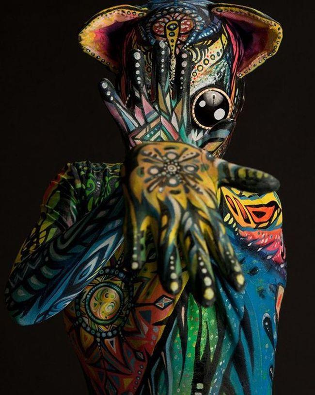 Catsuit Bodypainting Studiophotography Bodysuit