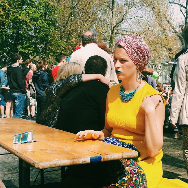 My Fest 2016 My Fest May Day People Watching Portrait Of A Woman Portrait Mobilephotography Let Your Hair Down Eye4photography  My Favorite Photo HuaweiP9 Street Portrait VSCO Yellow Street Photography Streetphotography Streetphoto_color The Portraitist - 2016 EyeEm Awards