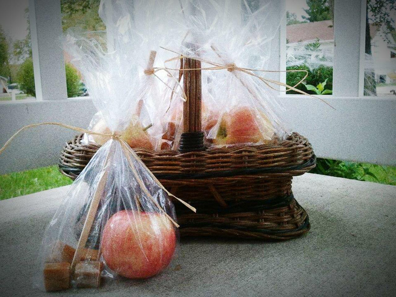 Apple Caramel Caramel Apples Basket