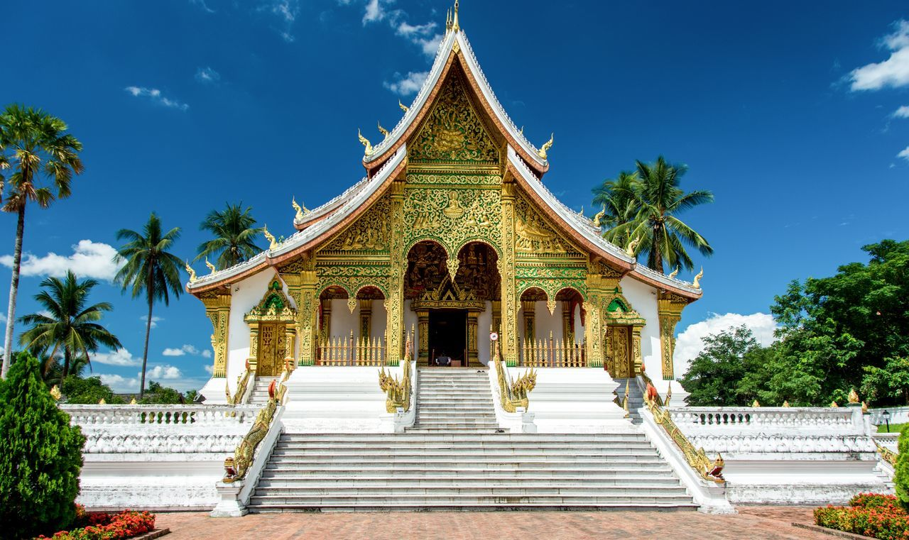 King's Palace Ancient Architecture Beauty Blue Business Finance And Industry City Cityscape Cultures Day Gold Gold Colored Landscape Laos Luang Prabang Luang Prabang, Laos Luangprabang Museum No People Outdoors Place Of Worship Religion Royalty Sky Travel Travel Destinations