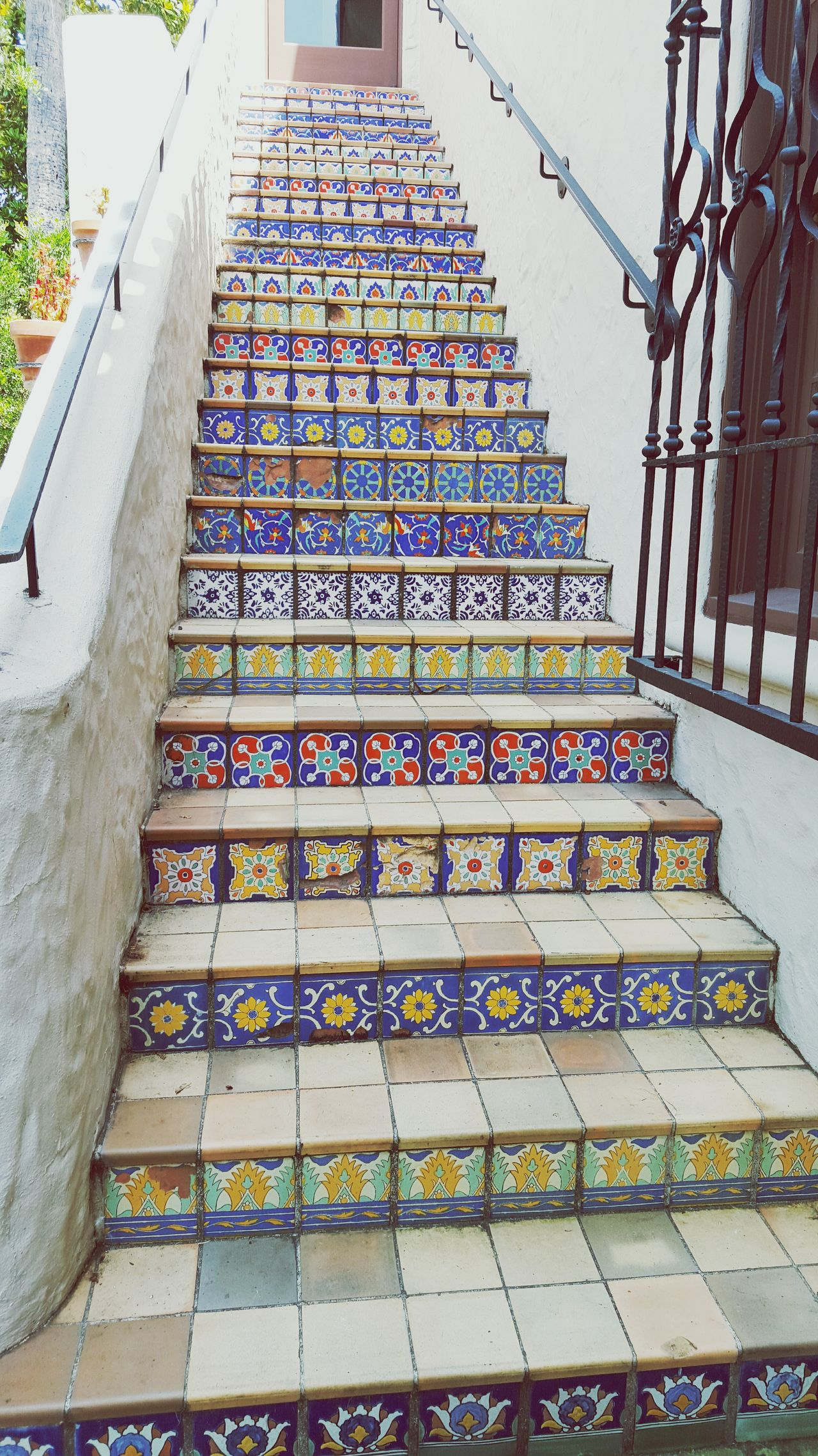 Stairs, tiles & colors Mcnay Museum Mexican Tile