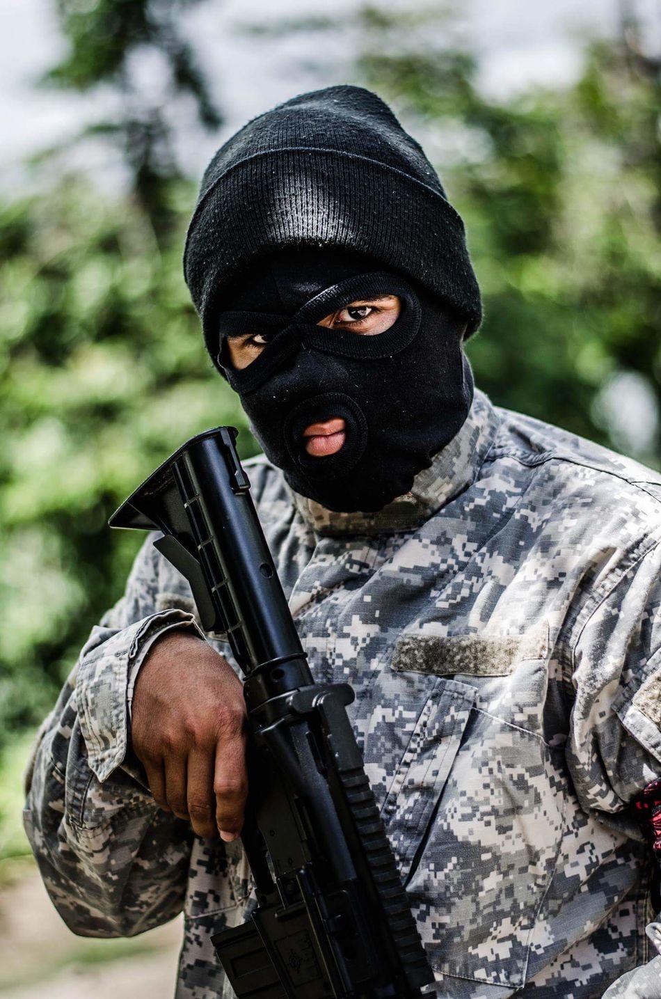 Post A4 Military Bountyhunter Photography Portrait Apocalypse Scenic Postapocalyptic AK47 Fantasy Violent Hostile Baclava