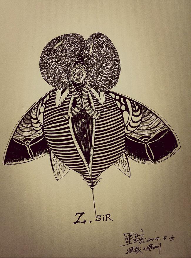脏先生。 Drawing Black & White Sketch