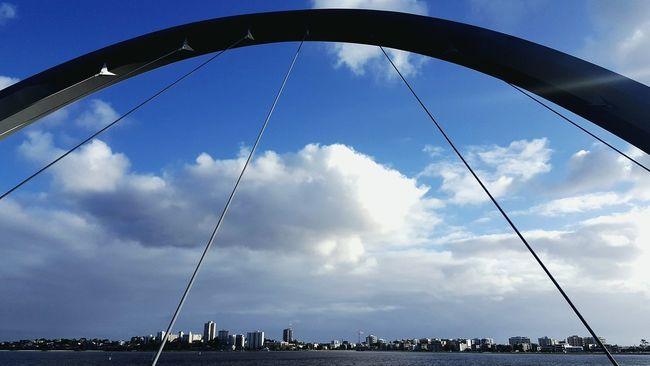Cloud - Sky Sky Cloud Low Angle View Arch Bridge Bridge View Bridge Photography Bridge Over Water Riverside Riverview Riverscape Tranquil Scene Swan River