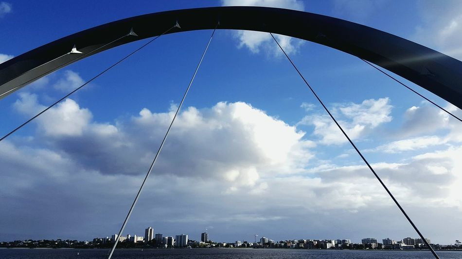 Cloud - Sky Sky Cloud Low Angle View Arch Bridge Bridge View Bridge Photography Bridge Over Water Riverside Riverview Riverscape Tranquil Scene Swan River
