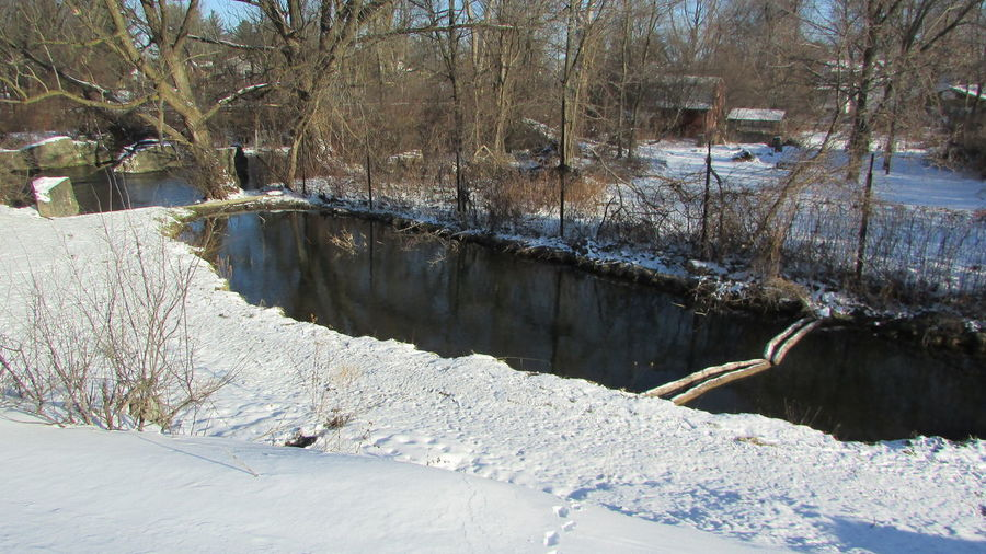 Taking A Walk Beauty In Nature Cold Temperature Winter Landscape From Above  Clam River Cool_capture_ Cadillac Michigan