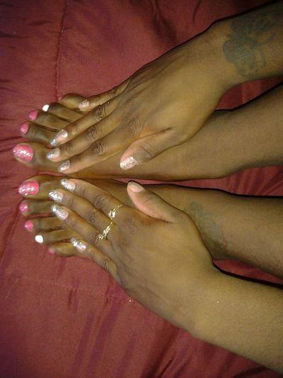Glitter Nails Wait #hands #feets Pink Hi